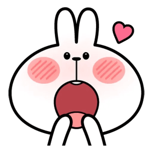 Spoiled rabbit face 2 - Sticker 13