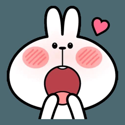 Spoiled rabbit face 2 - Sticker 13