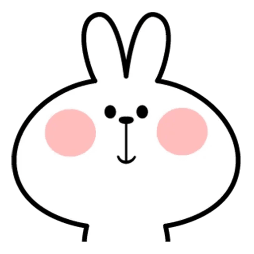 Spoiled rabbit face 2 - Sticker 5
