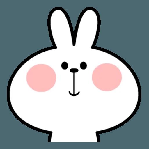 Spoiled rabbit face 2 - Sticker 5