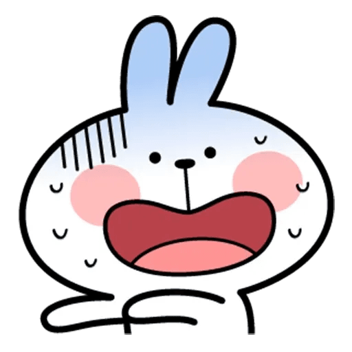 Spoiled rabbit face 2 - Sticker 30