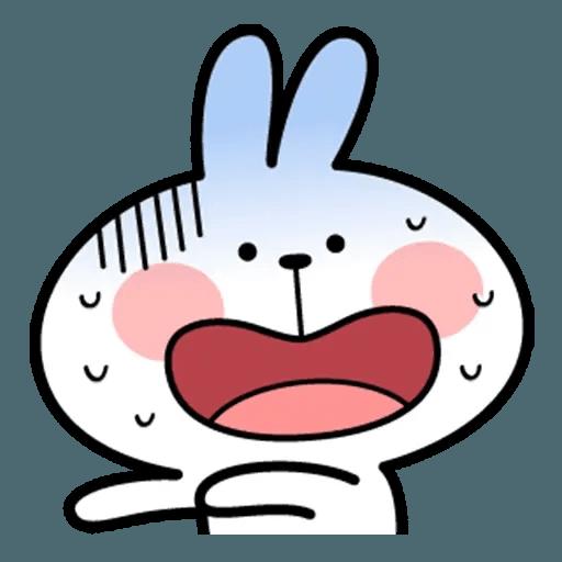 Spoiled rabbit face 2 - Sticker 30