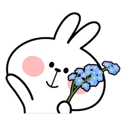 Spoiled rabbit face 2 - Sticker 4