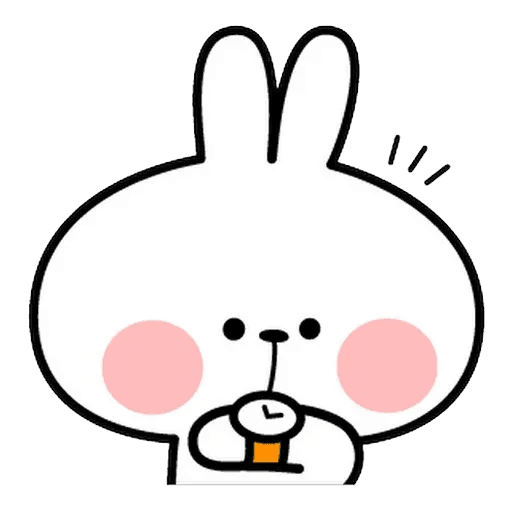 Spoiled rabbit face 2 - Sticker 2