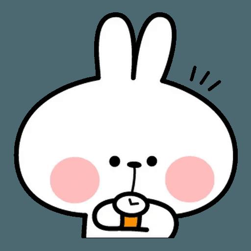Spoiled rabbit face 2 - Sticker 2