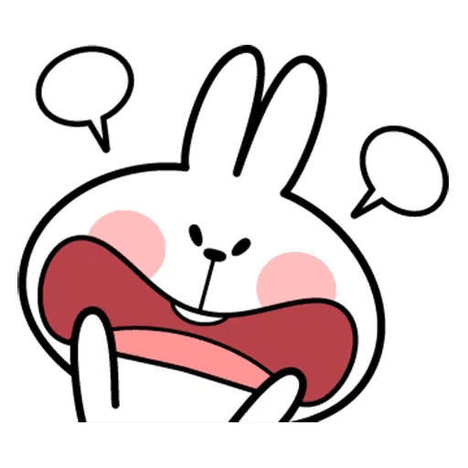 Spoiled rabbit face 2 - Sticker 19