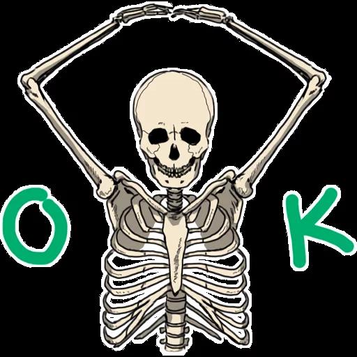骷髏骨先生 - Sticker 3