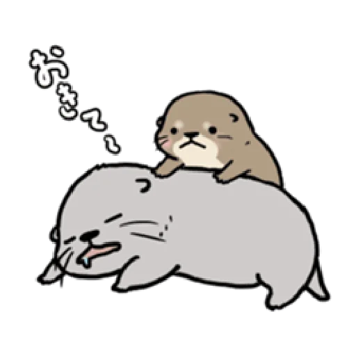 Otter's otter animated - Sticker 2