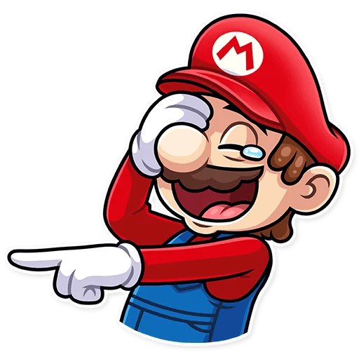It's-a Me, Mario - Tray Sticker