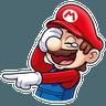 It's-a Me, Mario - Tray Sticker
