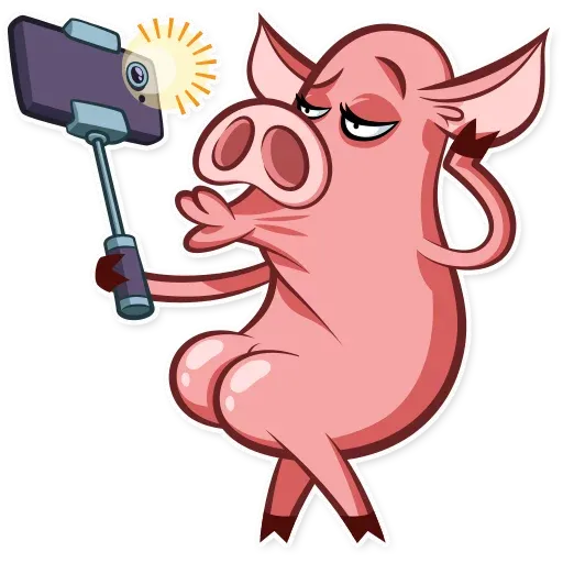 Pig - Tray Sticker