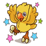 Chocobo - Tray Sticker