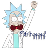 Rick & Morty - Tray Sticker