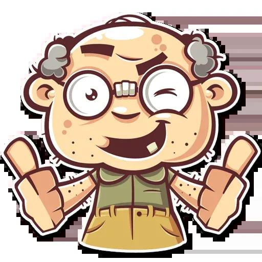 Grandpa - Tray Sticker