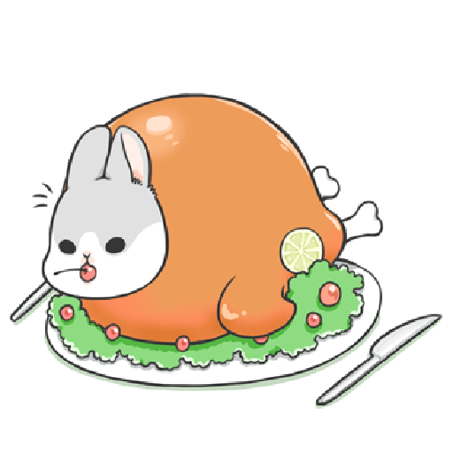 ㄇㄚˊ幾兔12  food - Tray Sticker