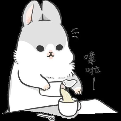 ㄇㄚˊ幾兔12  food - Sticker 21