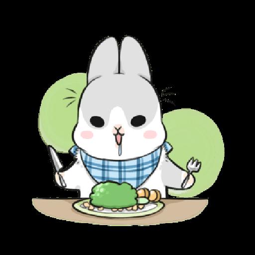 ㄇㄚˊ幾兔12  food - Sticker 24