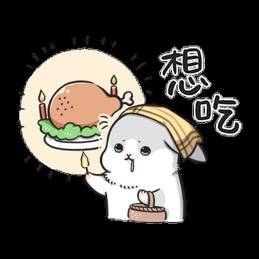 ㄇㄚˊ幾兔12  food - Sticker 29