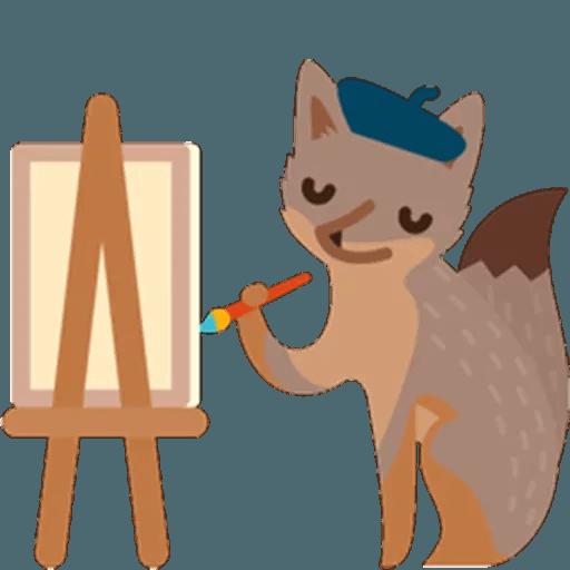 Fox - Tray Sticker