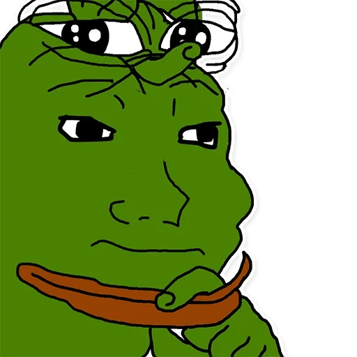 pepe think - Tray Sticker