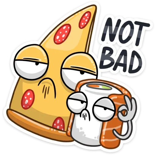 Pizza & Sushi - Sticker 21