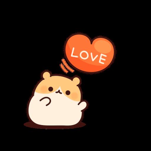 體貼的倉鼠 - Sticker 2