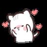 clingy kitty 2 - Tray Sticker