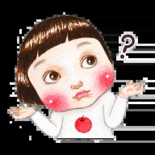 蘋果妹 - Sticker 4