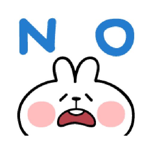 spoiled Rabbit A Word Emoji - Sticker 13