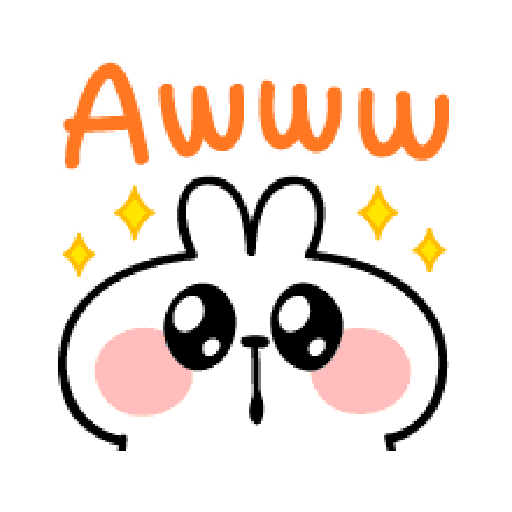 spoiled Rabbit A Word Emoji - Sticker 20