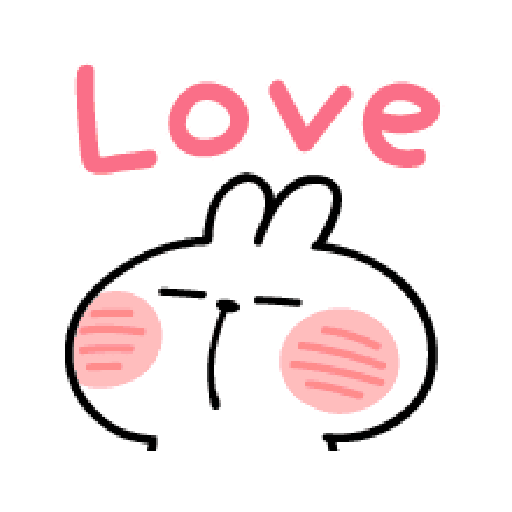 spoiled Rabbit A Word Emoji - Sticker 23