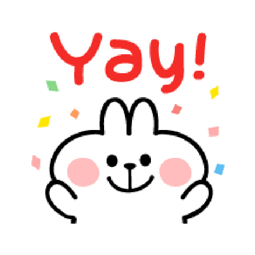 spoiled Rabbit A Word Emoji - Sticker 19