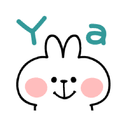 spoiled Rabbit A Word Emoji - Sticker 7