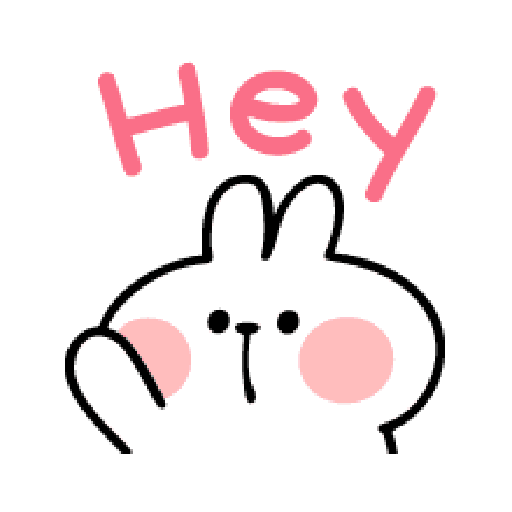 spoiled Rabbit A Word Emoji - Sticker 3