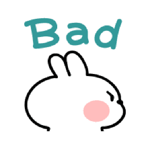 spoiled Rabbit A Word Emoji - Sticker 12