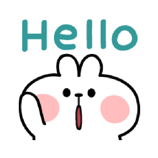 spoiled Rabbit A Word Emoji - Tray Sticker