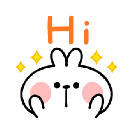 spoiled Rabbit A Word Emoji - Sticker 2