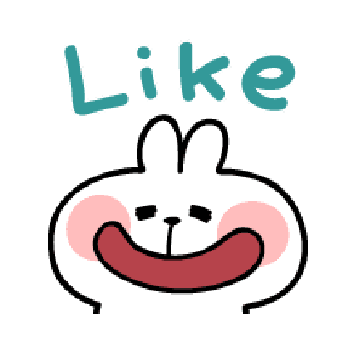 spoiled Rabbit A Word Emoji - Sticker 24