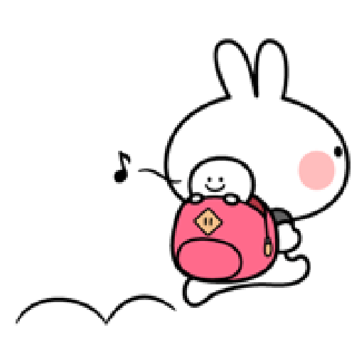 Small Smile person and Spoiled rabbit - Sticker 16