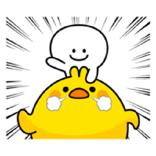 Small Smile person and Spoiled rabbit - Sticker 12