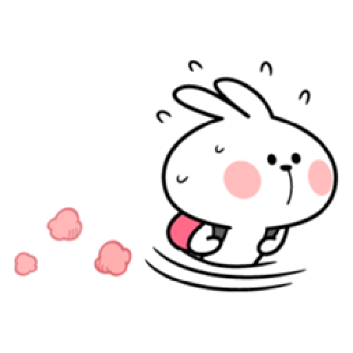 Small Smile person and Spoiled rabbit - Sticker 23