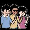 小明與好朋友 - Tray Sticker