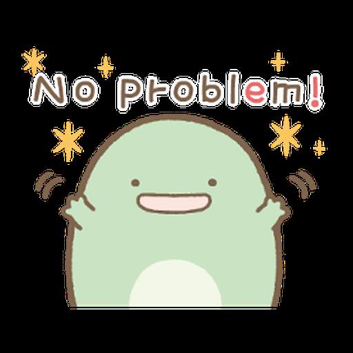 すみっコぐらし ゆる~い敬語スタンプ - Tray Sticker