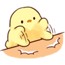 Soft and Cute Chick 0202 - Tray Sticker