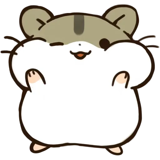 hamster - Tray Sticker