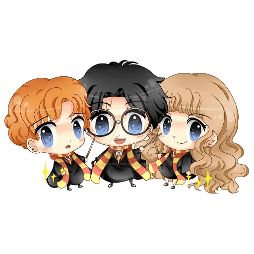 Harry Potter cute - Tray Sticker