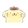 Pompompurin ball - Tray Sticker
