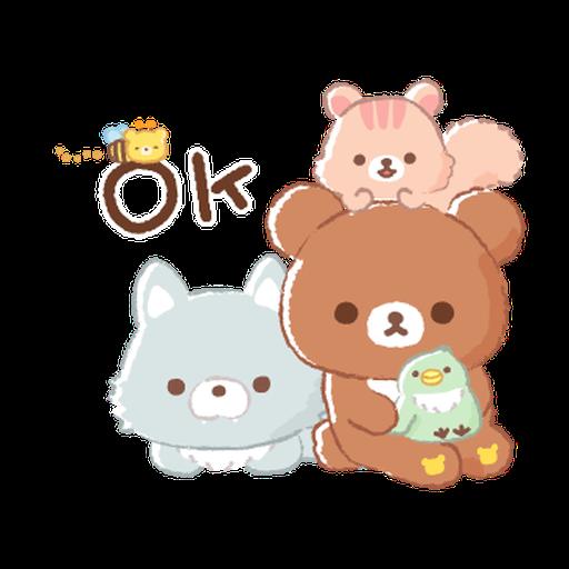 Rilakkuma: Friends of Chairoikoguma - Sticker 3