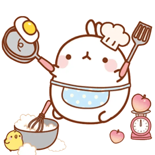 Molang lalalalala - Sticker 3