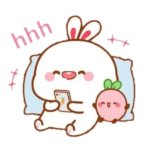 Cute Rabbit - @CelebritiesMood - Sticker 25